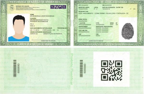 Nova Carteira De Identidade Perícia Forense