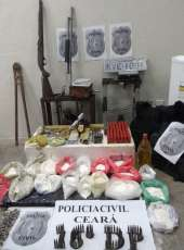 Polícia fecha laboratório de drogas, apreende armas e entorpecentes na AIS 7; trio é capturado