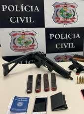 Polícia Civil prende dupla e apreende armas que seriam utilizadas em atos criminosos