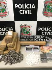 Polícia apreende mais de 7 kg de drogas e captura suspeitos de envolvimento com tráfico em Juazeiro do Norte