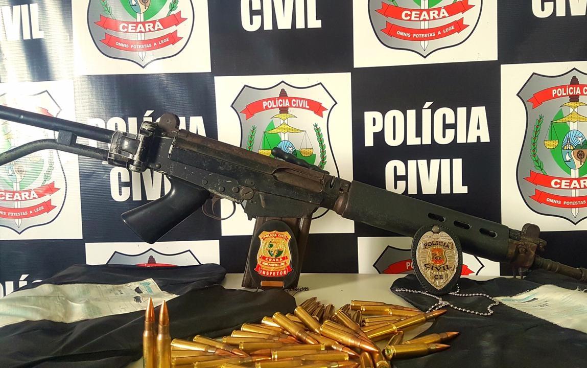 Um fuzil, munições e 1 kg de cocaína são apreendidos com suspeito em ação das Polícias Civil e Militar