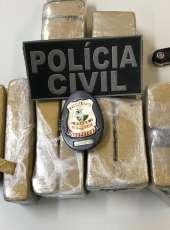 DHPP captura suspeito de cometer homicídios em ação que resultou na apreensão de quase 6 kg de maconha