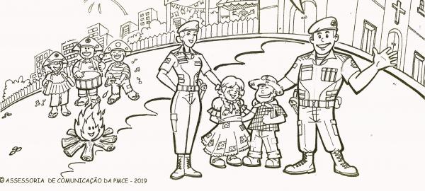 Policia Militar Realiza O 1 Concurso Artistico Para Criancas
