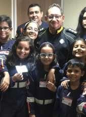 Ciops recebe visita de crianças do Projeto Samu Júnior
