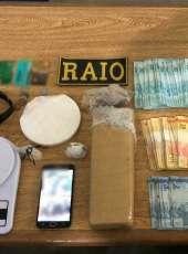 CPRaio da PMCE apreende drogas e dinheiro em Hidrolândia