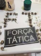 Força Tática da PMCE captura homem suspeito de tráfico de drogas em Pacatuba