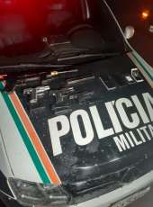 Quatro armas de fogo são apreendidas e suspeito é preso pela PMCE com apoio da Ciopaer