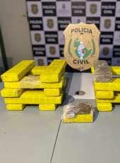 Suspeito da morte de sargento é preso com quase 19 kg de drogas pela Polícia Civil