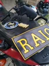 CPRaio da PMCE recupera motocicleta roubada e apreende arma de fogo em Sobral