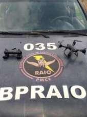PMCE captura homem com mandado de prisão por homicídio e recupera drone em Aquiraz